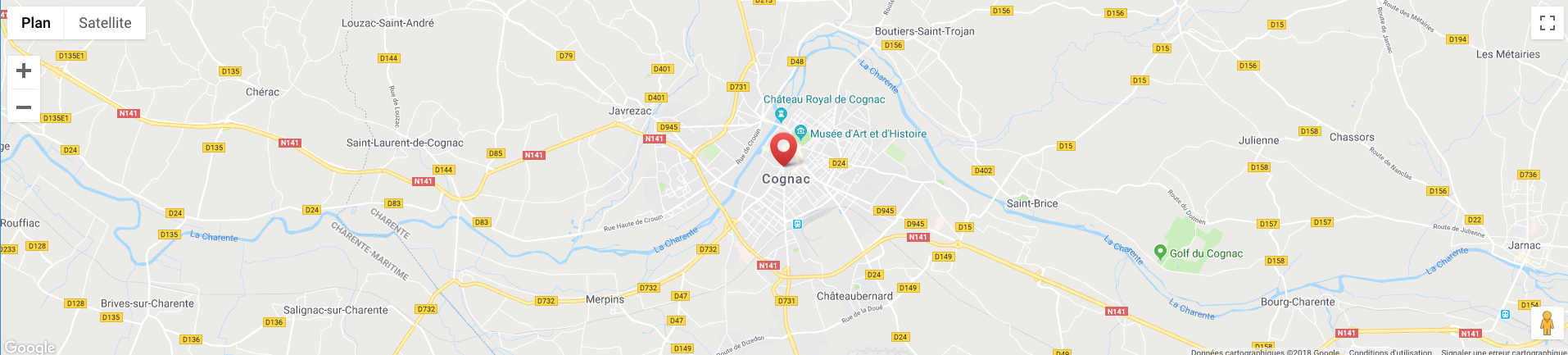 Plan de l'Agence de Cognac
