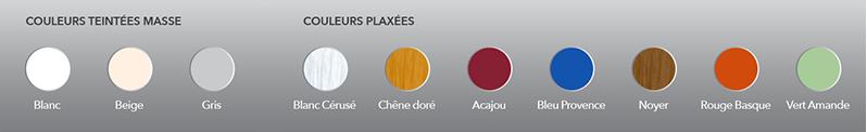 choix des coloris pour les volets battants PVC