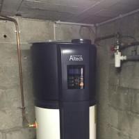 Chauffe-eaux thermodynamique au sous sol d'une maison à Saintes