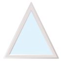 Fenêtre de forme triangle