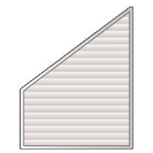 Volet roulant Trapèze