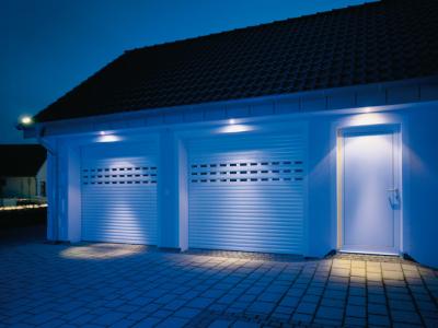 double porte de garage enroulable pour 2 véhicule avec éclairage pour la nuit