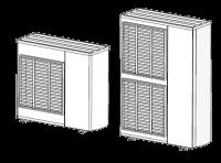 dessin épuré de deux pompes à chaleurs