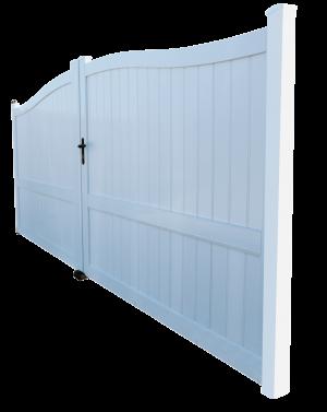 Modèle de portail PVC que l'entreprise Art Renov propose