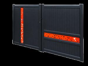 Modèle de portail en Aluminium proposé par Art Renov