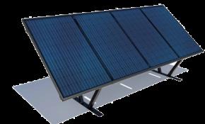 Modèle de panneau solaire au sol
