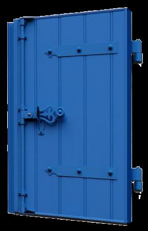 volet battant en PVC bleu